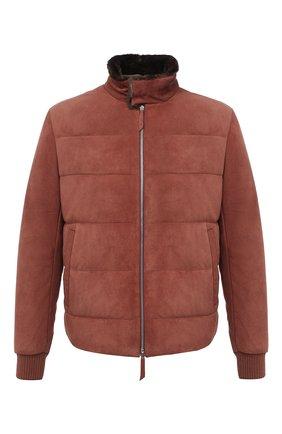 Мужская замшевая куртка ANDREA CAMPAGNA коричневого цвета, арт. 94800H5H62900 | Фото 1