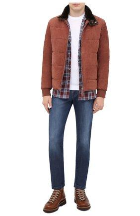 Мужская замшевая куртка ANDREA CAMPAGNA коричневого цвета, арт. 94800H5H62900 | Фото 2