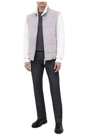 Мужская комбинированная куртка ANDREA CAMPAGNA светло-серого цвета, арт. 94700H5MZ2900 | Фото 2