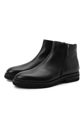 Мужские кожаные сапоги W.GIBBS черного цвета, арт. 0128020/2303 | Фото 1