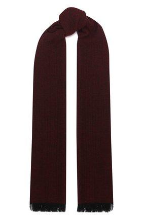 Мужской кашемировый шарф KITON бордового цвета, арт. USCIACX03T39 | Фото 1