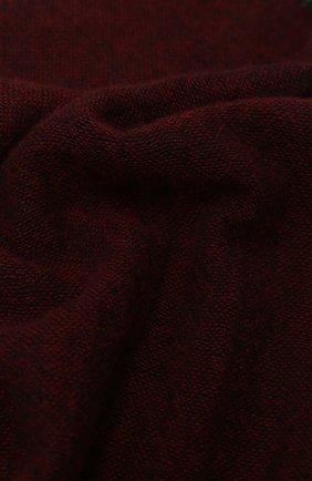 Мужской кашемировый шарф KITON бордового цвета, арт. USCIACX03T39 | Фото 2