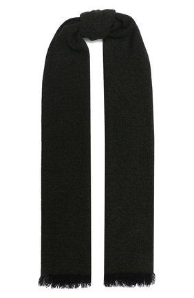 Мужской кашемировый шарф KITON зеленого цвета, арт. USCIACX03T39 | Фото 1