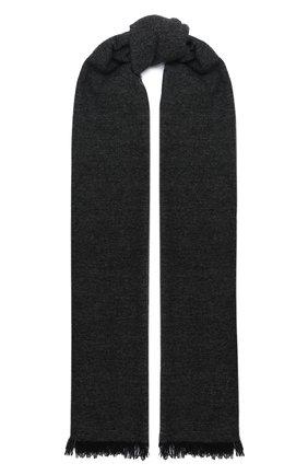 Мужской кашемировый шарф KITON серого цвета, арт. USCIACX03T39   Фото 1