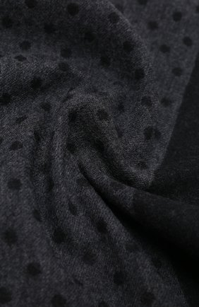 Мужской шарф из шерсти и шелка KITON темно-серого цвета, арт. USCIACX03T38   Фото 2