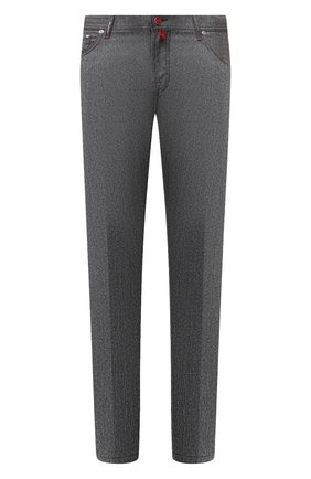 Мужской шерстяные брюки KITON светло-серого цвета, арт. UPNJSK01T54   Фото 1