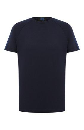 Мужская хлопковая футболка KNT темно-синего цвета, арт. UMM0072 | Фото 1