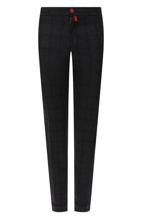 Мужские брюки из шерсти и кашемира KITON темно-серого цвета, арт. UFPLACK01T47   Фото 1