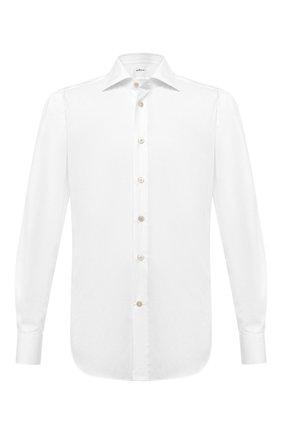 Мужская хлопковая рубашка KITON белого цвета, арт. UCIH0660201 | Фото 1