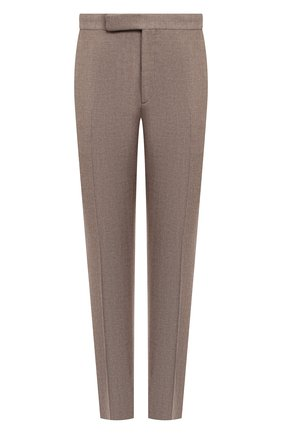 Мужской брюки из шерсти и шелка RALPH LAUREN бежевого цвета, арт. 798804740 | Фото 1