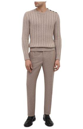 Мужской брюки из шерсти и шелка RALPH LAUREN бежевого цвета, арт. 798804740 | Фото 2