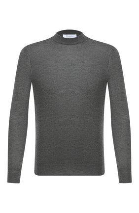 Мужской джемпер из кашемира и шелка CRUCIANI темно-серого цвета, арт. CU487B.L03F6V   Фото 1