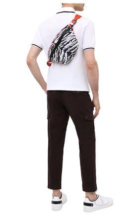 Мужская текстильная поясная сумка jungle sport DOLCE & GABBANA серого цвета, арт. BM1760/AX897 | Фото 2