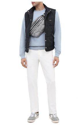 Мужская текстильная поясная сумка palermo tecnico DOLCE & GABBANA серого цвета, арт. BM1760/AW140 | Фото 2