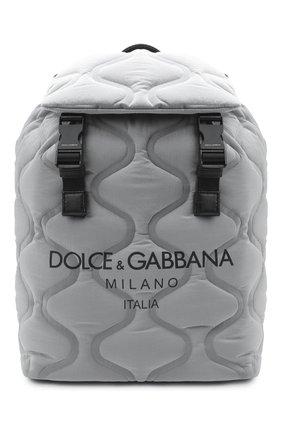 Мужской текстильный рюкзак palermo tecnico DOLCE & GABBANA серого цвета, арт. BM1756/AW140 | Фото 1