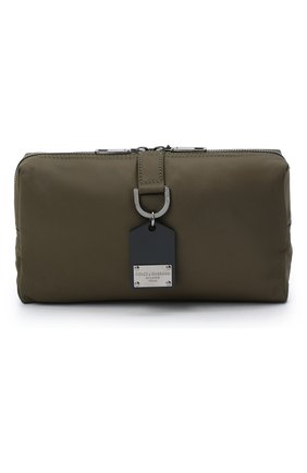 Мужская текстильная поясная сумка DOLCE & GABBANA хаки цвета, арт. BM1750/AW309 | Фото 1