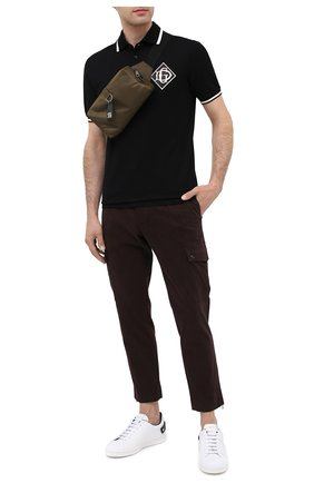 Мужская текстильная поясная сумка DOLCE & GABBANA хаки цвета, арт. BM1750/AW309 | Фото 2