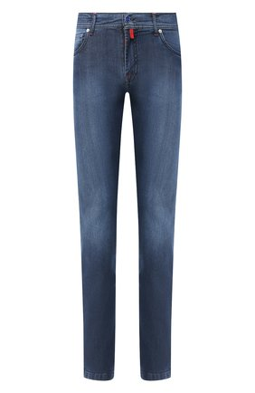 Мужские джинсы KITON темно-синего цвета, арт. UPNJS/J02T64 | Фото 1