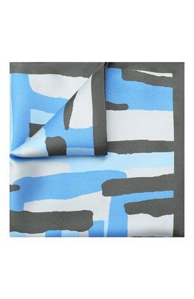 Мужской шелковый платок KITON серого цвета, арт. UP0CHCX03T23   Фото 1