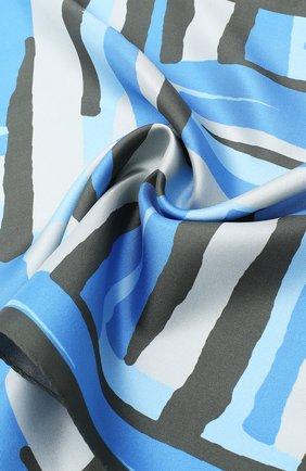 Мужской шелковый платок KITON серого цвета, арт. UP0CHCX03T23   Фото 2