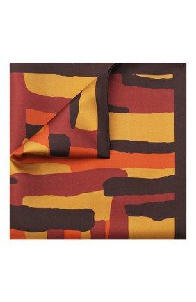 Мужской шелковый платок KITON коричневого цвета, арт. UP0CHCX03T23 | Фото 1