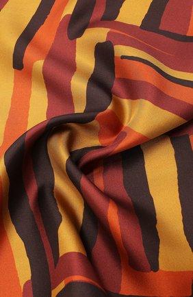 Мужской шелковый платок KITON коричневого цвета, арт. UP0CHCX03T23 | Фото 2