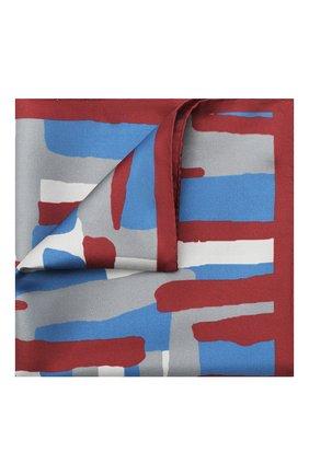 Мужской шелковый платок KITON красного цвета, арт. UP0CHCX03T23 | Фото 1