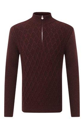 Мужской кашемировый свитер KITON бордового цвета, арт. UK1125   Фото 1