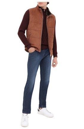 Мужской кашемировый свитер KITON бордового цвета, арт. UK1125   Фото 2
