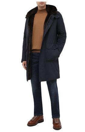 Мужская пуховая парка с меховой подкладкой ANDREA CAMPAGNA темно-синего цвета, арт. 94501H001A131 | Фото 2