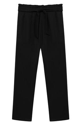 Детского брюки ALETTA черного цвета, арт. AF000540N/9A-16A | Фото 1