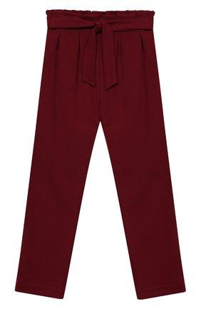 Детского брюки ALETTA бордового цвета, арт. AF000540N/4A-8A | Фото 1