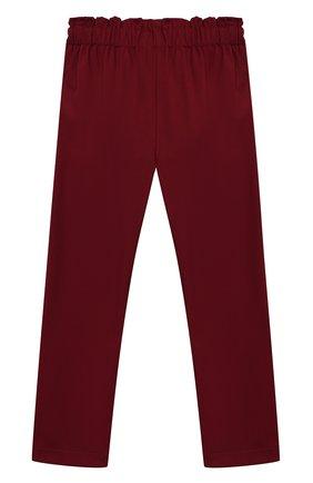 Детского брюки ALETTA бордового цвета, арт. AF000540N/4A-8A | Фото 2