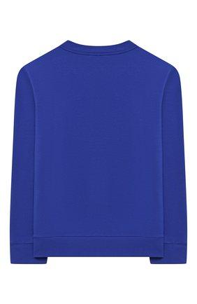 Детский хлопковый свитшот EMILIO PUCCI синего цвета, арт. 9N4040/NE020/10-14 | Фото 2