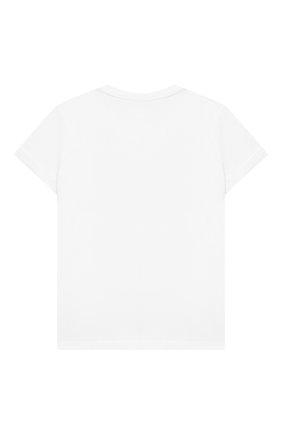Детская хлопковая футболка EMILIO PUCCI белого цвета, арт. 9N8151/NC470/5-8   Фото 2