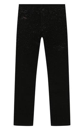 Детские джинсы DIESEL черного цвета, арт. 00J4HP-KXB6R | Фото 1