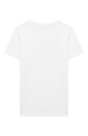 Детская хлопковая футболка DIESEL белого цвета, арт. 00J50W-00YI9 | Фото 2