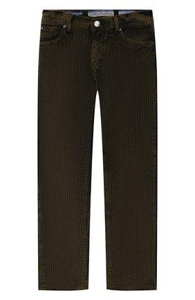 Детские хлопковые брюки JACOB COHEN хаки цвета, арт. D1011 J-20003 | Фото 1