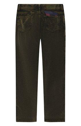 Детские хлопковые брюки JACOB COHEN хаки цвета, арт. D1011 J-20003 | Фото 2
