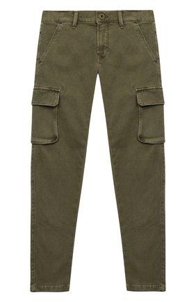 Детские брюки-карго JACOB COHEN хаки цвета, арт. P1314 T-10013 | Фото 1