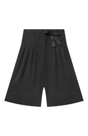 Детские хлопковые шорты ALETTA серого цвета, арт. AF000538R/4A-8A | Фото 1