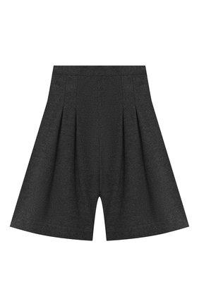 Детские хлопковые шорты ALETTA серого цвета, арт. AF000538R/4A-8A | Фото 2