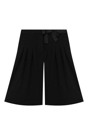 Детские хлопковые шорты ALETTA черного цвета, арт. AF000538R/4A-8A | Фото 1