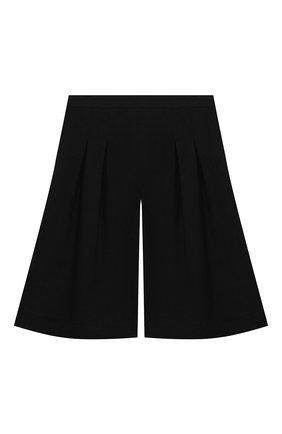 Детские хлопковые шорты ALETTA черного цвета, арт. AF000538R/4A-8A | Фото 2
