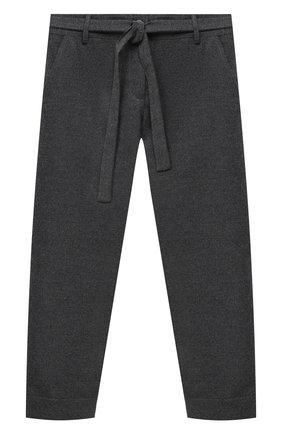 Детского брюки ALETTA серого цвета, арт. AF000541R/9A-16A | Фото 1