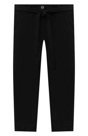 Детского брюки ALETTA черного цвета, арт. AF000541R/9A-16A | Фото 1