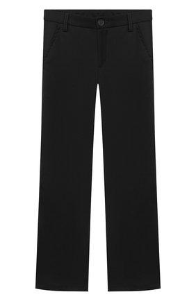 Детские брюки ALETTA черного цвета, арт. AM000594N/4A-8A | Фото 1