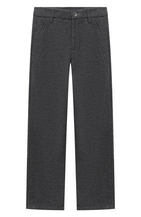 Детские брюки ALETTA серого цвета, арт. AM000594R/9A-16A | Фото 1