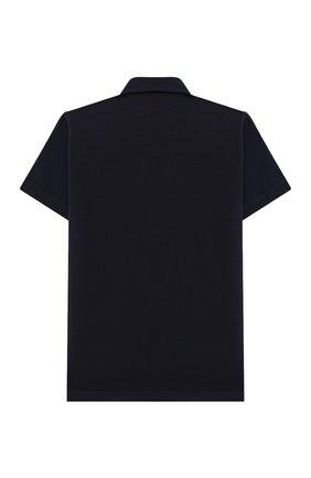 Детская хлопковая рубашка ALETTA синего цвета, арт. AM000606MC/9A-16A | Фото 2 (Материал внешний: Хлопок; Случай: Повседневный; Рукава: Короткие; Ростовка одежда: 10 - 11 лет | 140 - 146см, 12 лет | 152 см, 13 - 15 лет | 158 см, 16 лет | 164 см, 8 лет | 128 см)