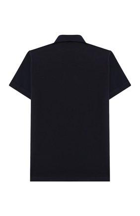 Детская хлопковая рубашка ALETTA синего цвета, арт. AM000606MC/4A-8A | Фото 2 (Материал внешний: Хлопок; Случай: Повседневный; Рукава: Короткие; Ростовка одежда: 6 лет | 116 см, 7 лет | 122 см, 8 лет | 128 см)